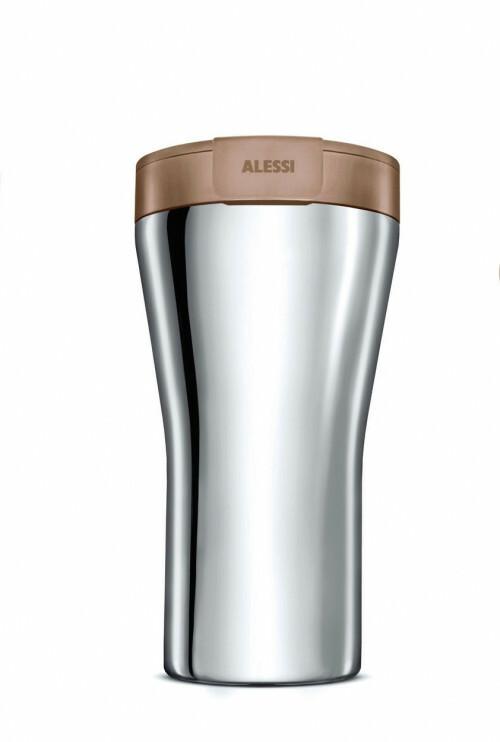 Alessi Thermosbeker Caffa met bruin deksel