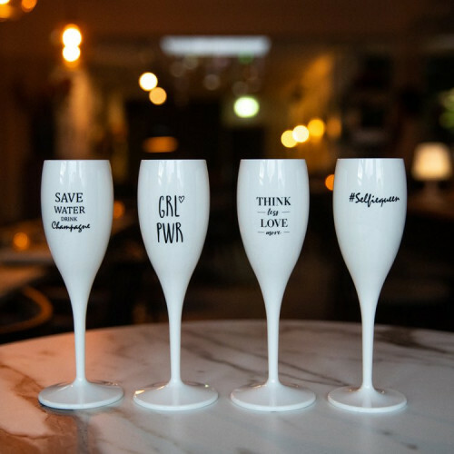 Koziol Champagne glas Cheers GRLPWR Girl Power