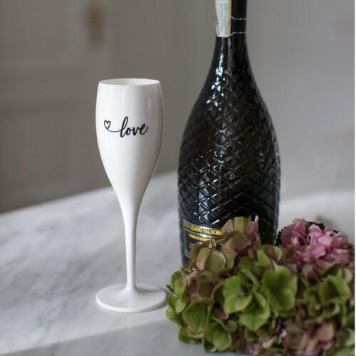 Koziol Champagne glas Cheers  LOVE