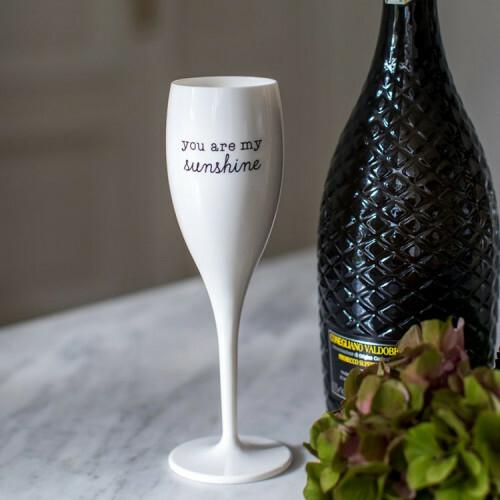 Koziol Champagne glas Cheers YOU ARE MY SUNSHINE