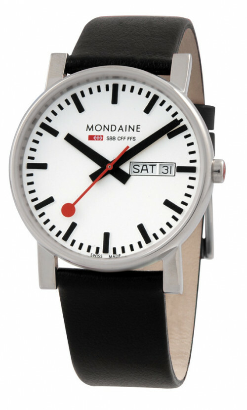 MONDAINE EVO POLISHED 38 DAY DATE