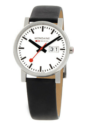 MONDAINE EVO GENTS 35 BIG DATE POLISHED