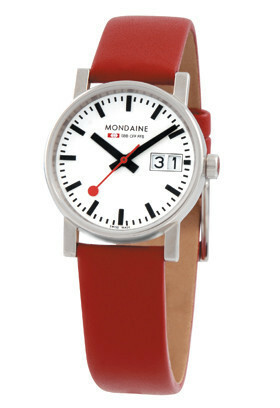 MONDAINE EVO LADIES 30 BIG DATE RED