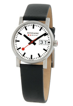 MONDAINE EVO LADIES 30 BIG DATE BLACK