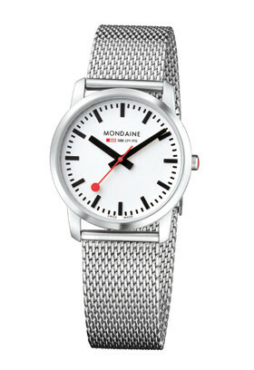 MONDAINE SIMPLY ELEGANT LADY BRUSHED METAL 36