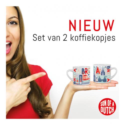 Koffiekopjes Breda Set van 2