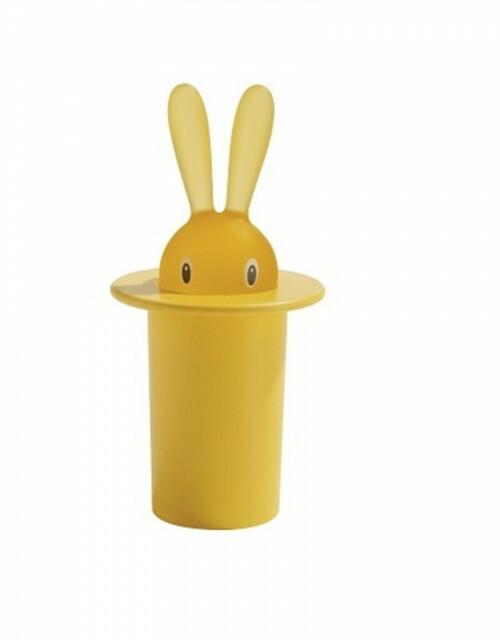Alessi Bunny Tandenstoker Houder Geel