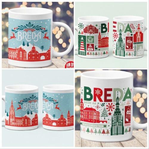 Combi-deal 2 x Kerst Mok Breda