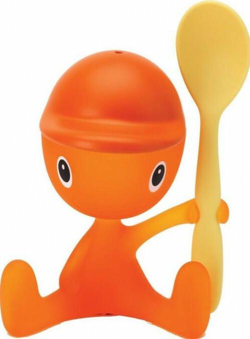 Alessi Chico Eierdop met Lepel Oranje Geel