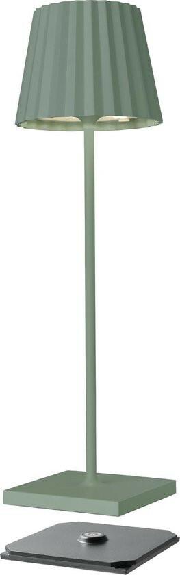 Sompex Troll LED Lamp GRIJS GROEN - oplaadbaar voor binnen en buiten