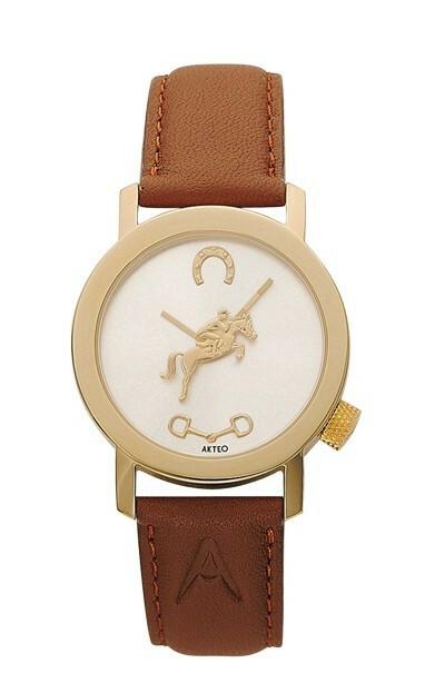 Akteo Horloge Hippique Gold