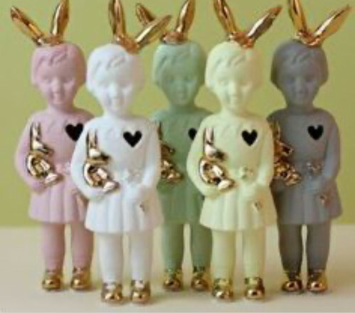 Lammers en Lammers Mini Pupke Bunny Mint Groen met Konijnenoortjes