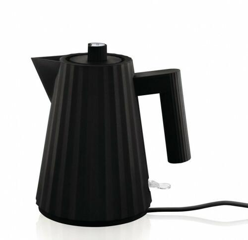 Alessi Plisse Waterkoker 1 liter Zwart
