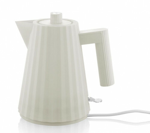 Alessi Plisse Waterkoker 1 liter Wit