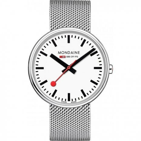 MONDAINE GIANT BACKLIGHT 42 MM RVS BAND