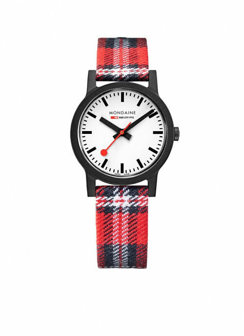 MONDAINE SBB ESSENCE 32 mm Red Tartan