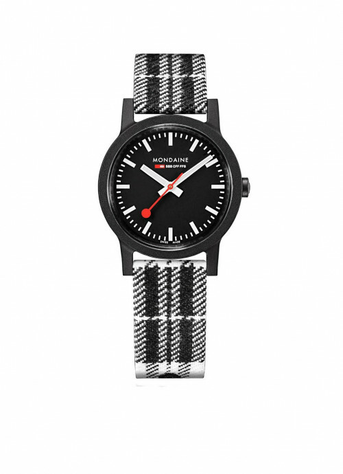 MONDAINE SBB ESSENCE 32 mm Black Tartan