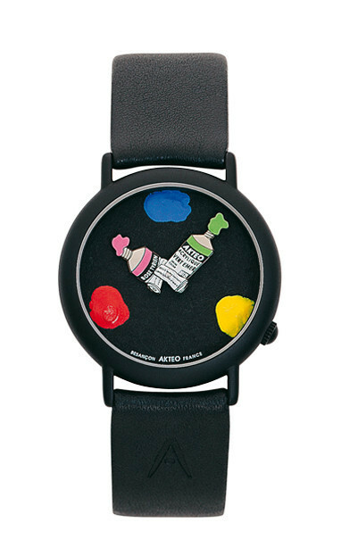 Akteo Horloge  Paint 03 Black