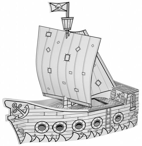 Villa Carton Piraten Boot