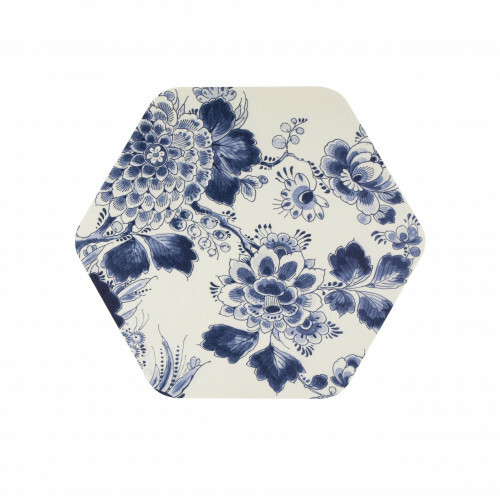 Royal Delft Wunderkammer Placemat Hexagon Flora en Fauna