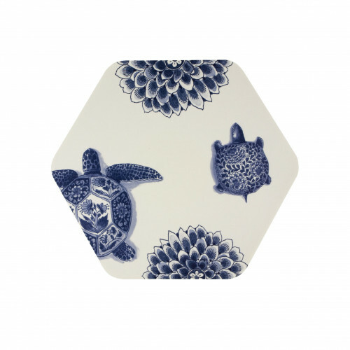 Royal Delft Wunderkammer Placemat Hexagon Turtle