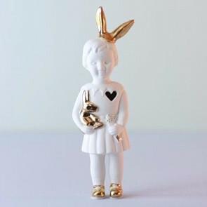Lammers en Lammers Mini Pupke Bunny Wit met Konijnenoortjes