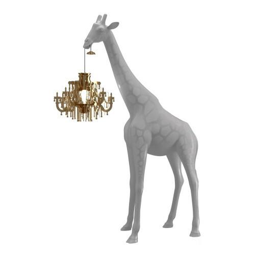 Qeeboo Giraffe in Love XS Stormy Grey