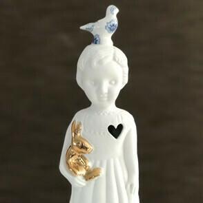 Lammers en Lammers Pupke Wit met Duif Delftsblauw en Gouden Konijn