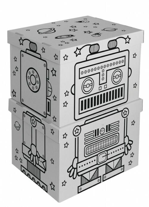 Villa Carton Opbergdozen Robot