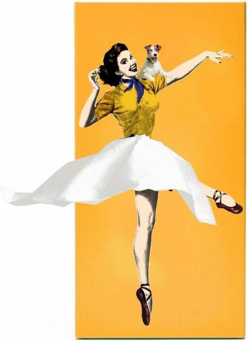 Tissue Up Girl Tissuedispenser Oranje Geel