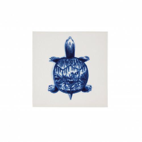 Royal Delft Wunderkammer Turtle Tegel 01