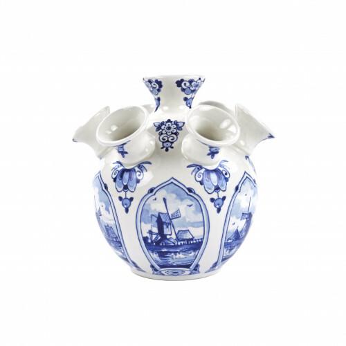 Royal Delft Blueware Tulpen Vaas Molen Large 16 cm