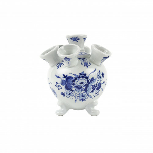 Royal Delft Blueware Tulpen Vaas op pootjes Klein 14 cm