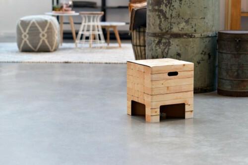 Dutch Design Chair krukje Woodstack