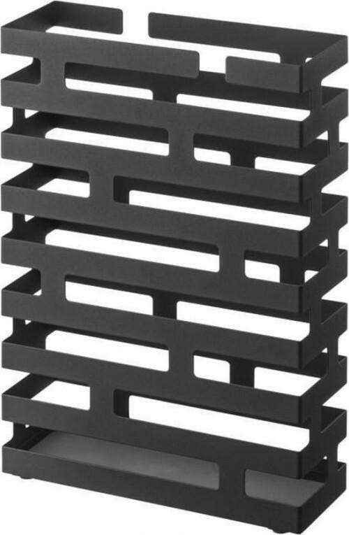 Yamazaki Paraplubak Paraplubouder Brick rechthoekig Zwart Staal