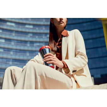Alessi Thermosbeker Caffa met rood deksel