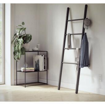 Umbra Leana Ladder Handdoekrek Hout Zwart