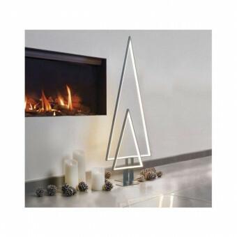 Design Kerstboom PINE Large met verlichting Zwart Aluminium