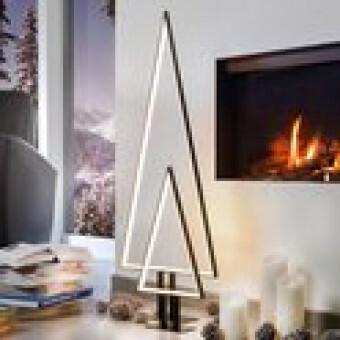 Design Kerstboom PINE Small met verlichting Zwart Aluminium