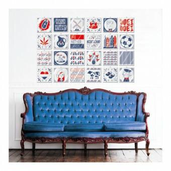 TEGEL Dutch Design Rood Blauw