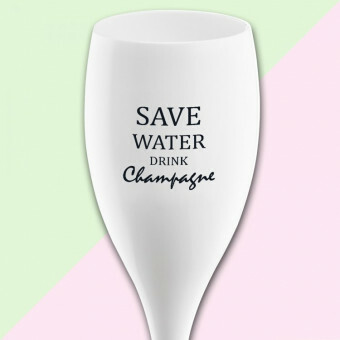 Koziol Champagne glas Cheers  SAVE WATER DRINK CHAMPAGNE