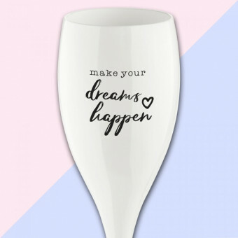 Koziol Champagne glas Cheers DREAMS HAPPEN