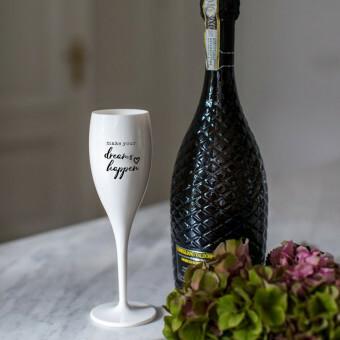 Koziol Champagne glas Cheers DREAMS HAPPEN