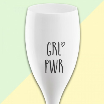 Koziol Champagne glas Cheers GRLPWR Girl Power
