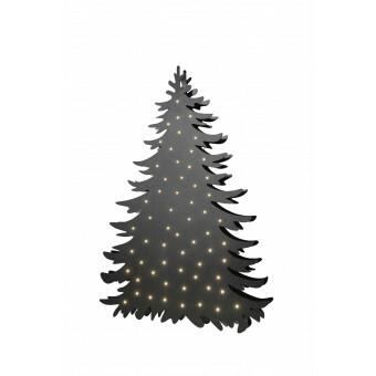 Kerstboom Blacky Large met aan beide zijden verlichting