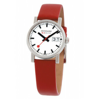 MONDAINE EVO GENTS 40 BIG DATE POLISHED RED