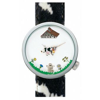 Akteo Horloge Cow Black 48 mm