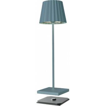 Sompex Troll LED Lamp BLAUW GRIJS - oplaadbaar voor binnen en buiten
