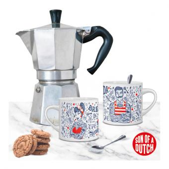 Koffiekopjes Breda Man en Vrouw Set van 2