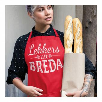 BBQ Kook Schort Lekkers uit Breda Rood